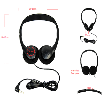 OEM customized Airplane cheapest headphones