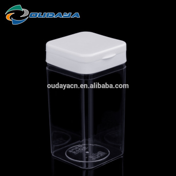 square shape plastic bottles with flip top cap