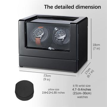 Double Watch Winder With Acrylic Window