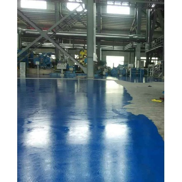 Peacock blue epoxy anti-static top coat coating