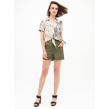High Quality Green Women Shorts