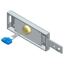 Right roller shutter lock computer key straight bolt