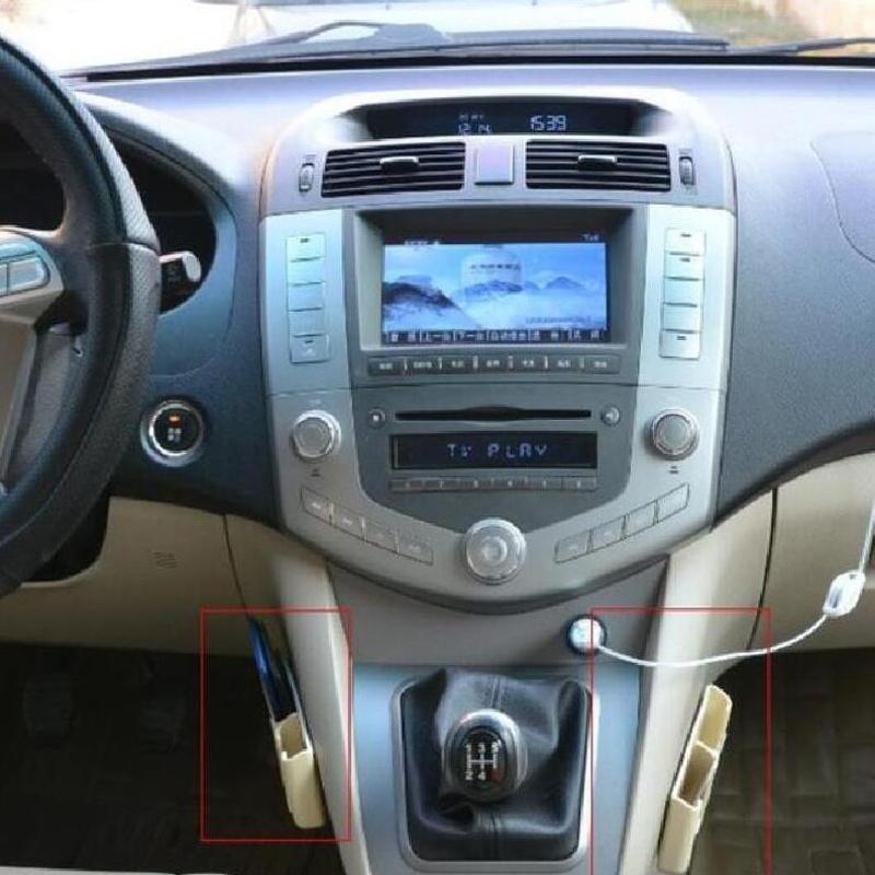 BROSHOO Auto Supplies Car Phone Mobile Card Holder Vehicle Glove Bags Box Car Gps Pda Iphone Case Storage Accessories 13.5*7*2CM