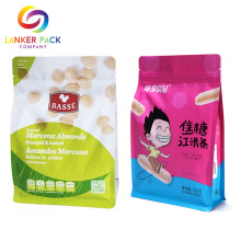 Custom Printed Reusable Plastic Snack Packaging With Zipper