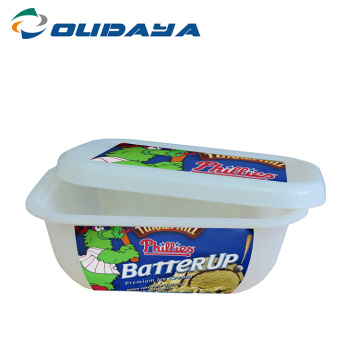 Disposable 300ml Oval Margarine Plastic Container