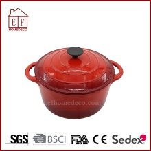 Red enamel cast iron casserole 24cm