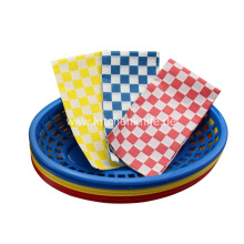 6 Pcs Plastic Food Baskets Set