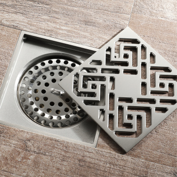 HIDEEP Bathroom Chrome Plating Brushed Floor Drain