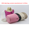 Custom EVA Rubber Beach Bag with PU handle