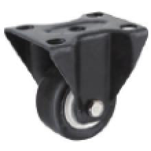 2 Inch Rigid Swivel PU Material Small Caster
