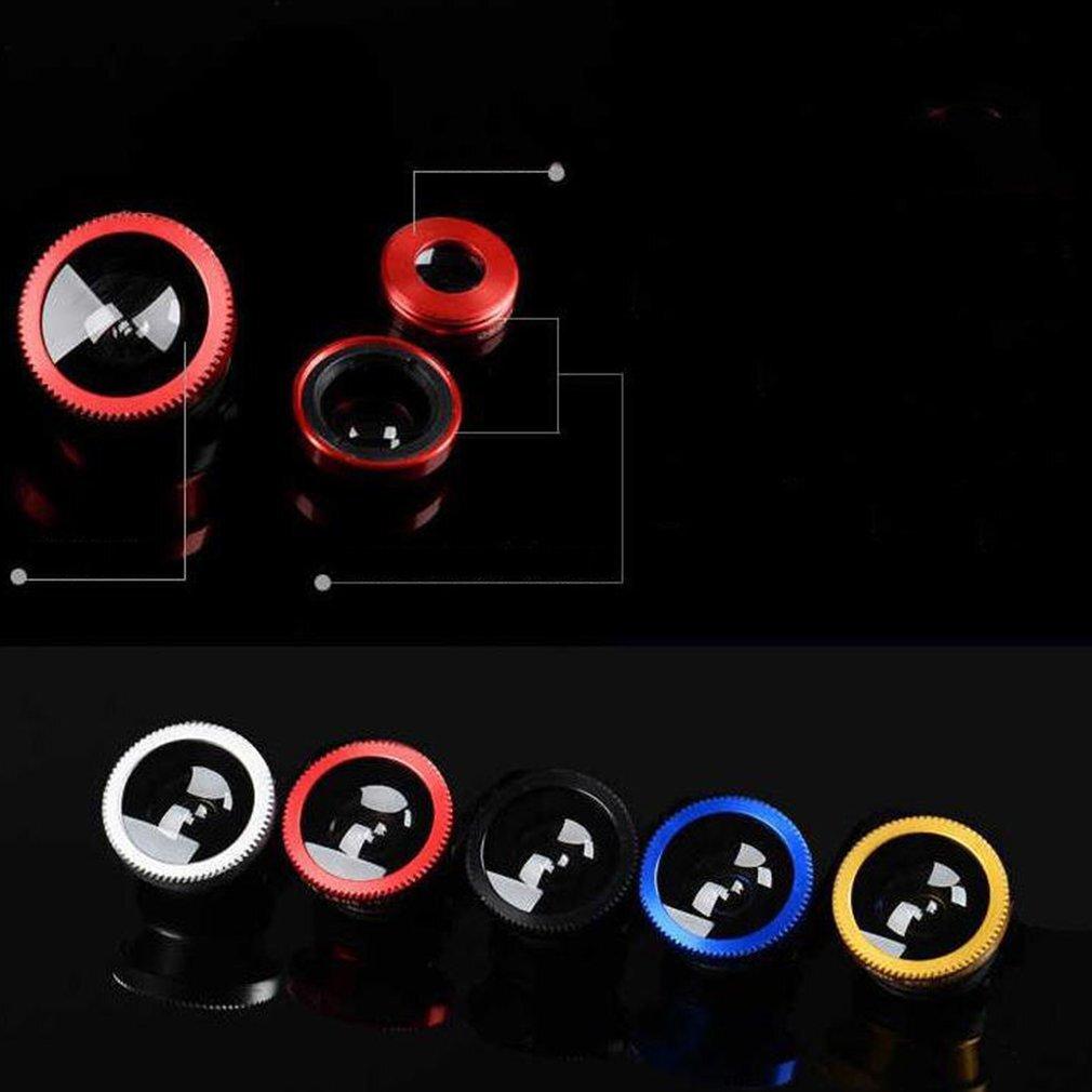Durable Universal 3 In 1 Mobile Phone Lenses Fish Eye Smartphone Wide Angle Macro Camera Celular Lens Kit