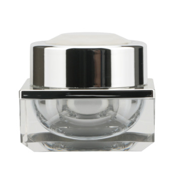 Unique Design Square 50g Double-layer Empty Cream Jar