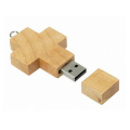 Wood Cross Shape USB Flash Drive Laser Engraving