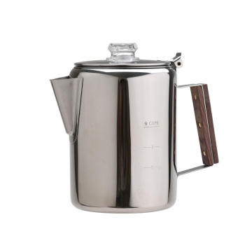 Portable Stainless Steel Camping Percolator Coffee Pot