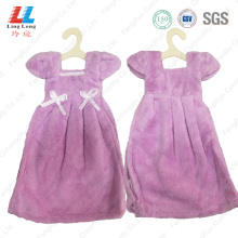 Elegant purple dress style hand dry towel