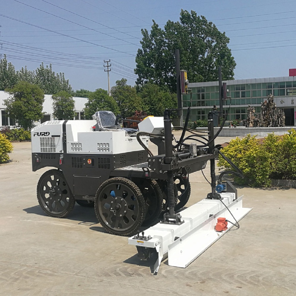 3D Ride-on Laser Guided Concrete Screed