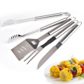 Full stainless steel bbq 4pcs tools set