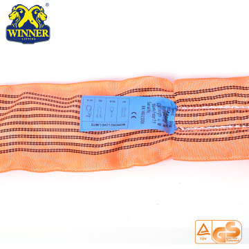 WLL 10Ton Polyester Lifting Polyester Round Webbing Sling