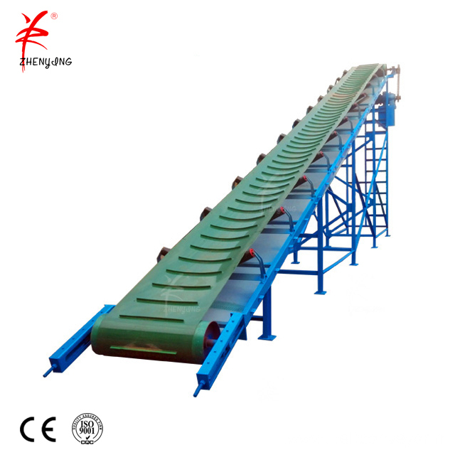 Incline mobile grain loading belt conveyor