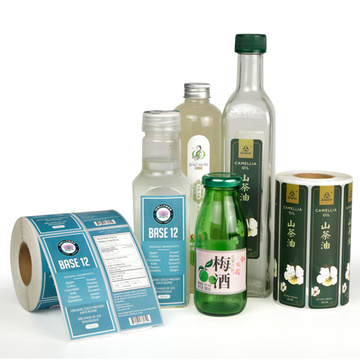 Custom printed personalised waterproof sticky bottle labels