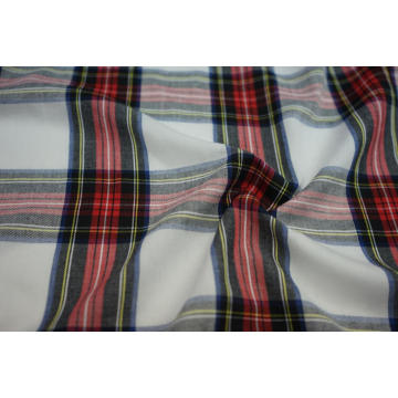 100% Polyester Spun Yarn Dyed Check Fabric