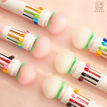 Cute Fresh Pink Peach 10 Colors Ballpoint Pen Kawaii School Office Writing Supplies Gift Stationery for Students Pens