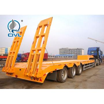 Yellow color 2axles 30T lowbed trailer