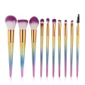 Metallic Makeup Brush Set 10 Pcs