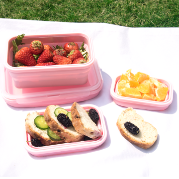 Collapsible microwave silicone bento lunch box