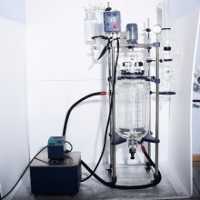 Chemical 50L double walled glass reactor