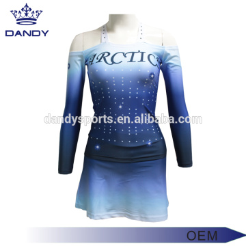 Customized Sublimation Strapless Cheer Uniform For Youth