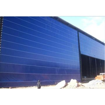 Exterior and Interior Flexible Fabric Hangar Gate