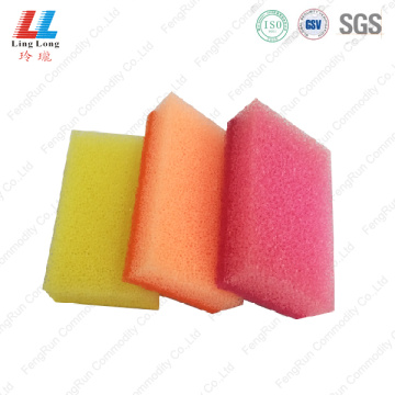 Squishy massaging sponge scouring pad