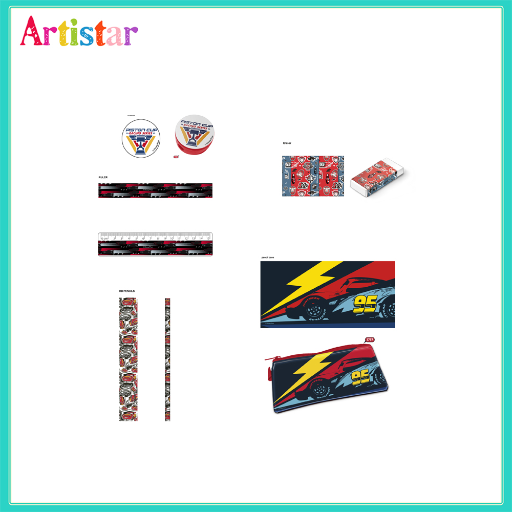 Disney Pixar Cars Opp Bag Packing Stationery Set 2