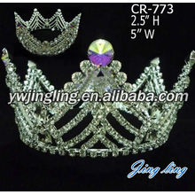 Beauty Queen Full Round Pageant Crowns