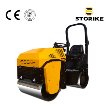 New design CE ride-on vibratory road roller 1ton
