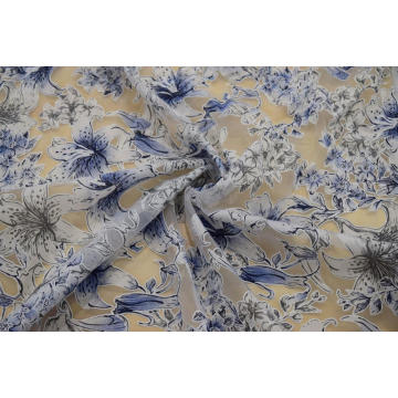 Beautiful Cotton Polyester Burn Out Lace Fabric