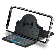 15W Wireless Car Charger Pad Silicone Holder Fast Charging Dock Station Mount Non-slip Car Dashboard Stand For Mobile Phone