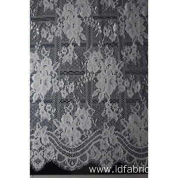 Fashion Design 100% Nylon Panel Lace Fabric