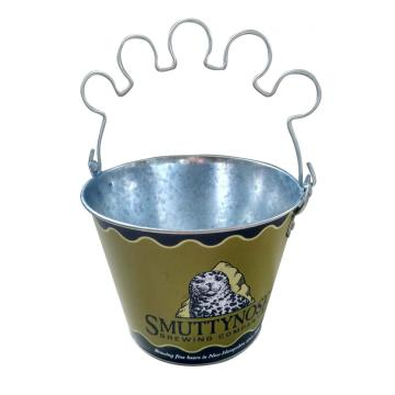 Oval Ice bucket with glass holder handle