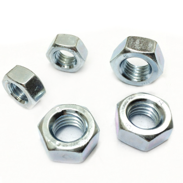8 Glass Blue And White Zinc Hexagon Nut