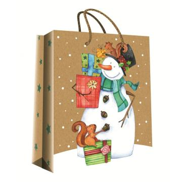 CHRISTMAS SERIES KRAFT GIFTBAG34-0