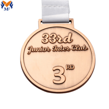 High quality first place copper custom medal
