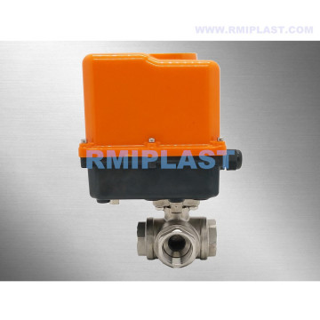 Three Way Motorized Ball Valve L port