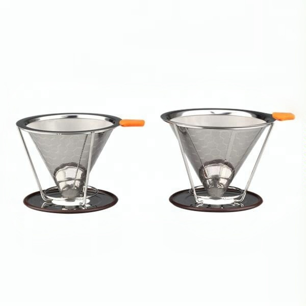 Honeycombed Stainless Steel Coffee Filter Reusable Pour