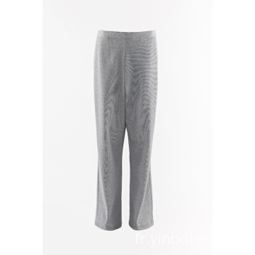 Pantalon stretch ponty gris chiné
