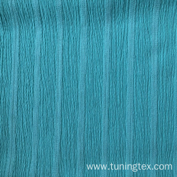 Dyed Knitted Crinkle Fabric With Stripes