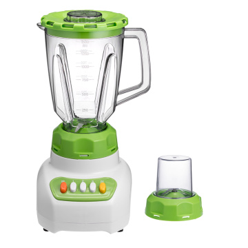 Food blender with plastic removable jar