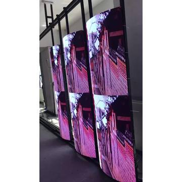 Curving LED video screen