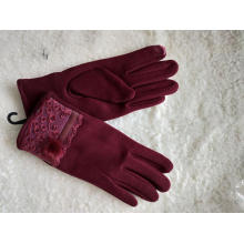 wholesale ladies fabric lace glove